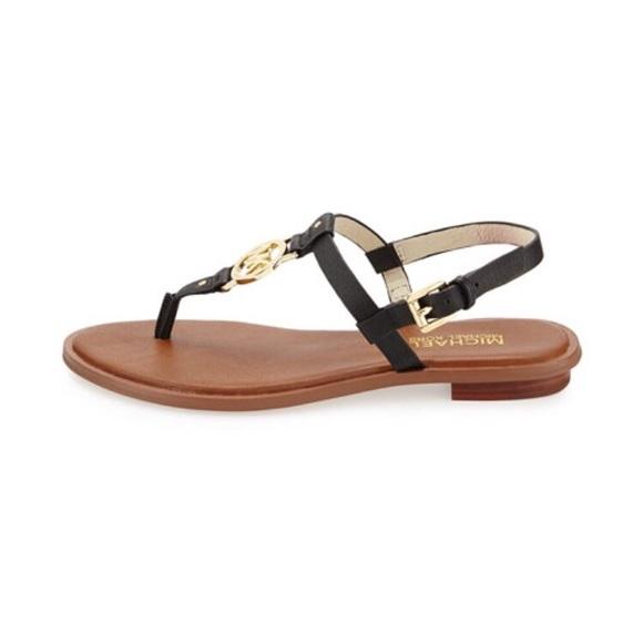 2aa009fd3bf1b6 NEW Michael Kors Black Sondra Sandals size 9